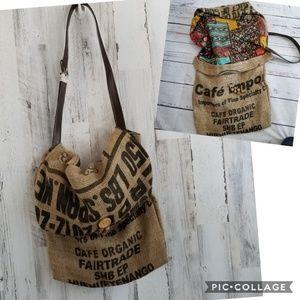 Handbags - Upcycled Repurposed Boho Coffee Bean Bag